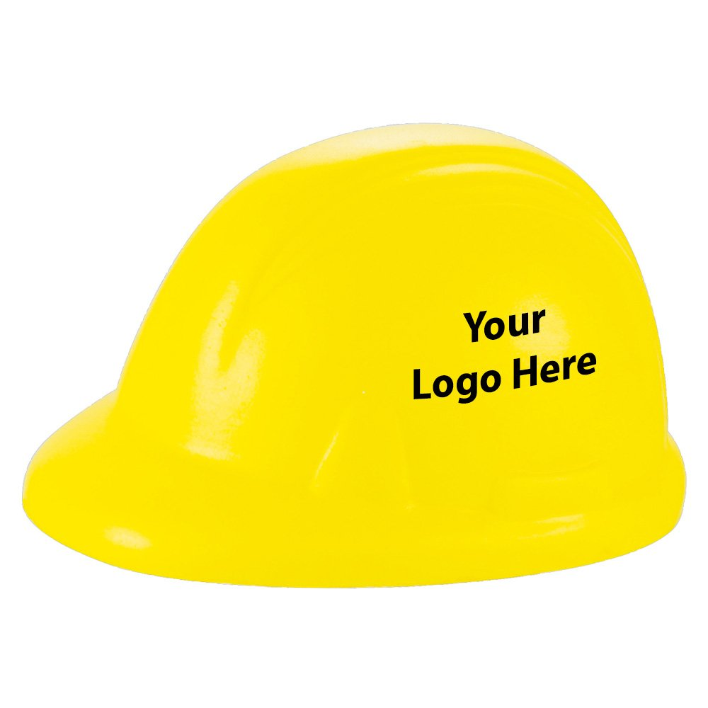 Construction Hat Stress Reliever - 300 Quantity - $1.15 Each - PROMOTIONAL PRODUCT / BULK / BRANDED with YOUR LOGO / CUSTOMIZED