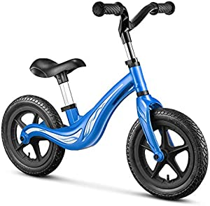 Kealive Balance Bike for Toddler Training and 18 Months 2 3 4 5 Year Old Kids, Lightweight Aluminum Sport Training Bicyclewith No Pedal Footrest