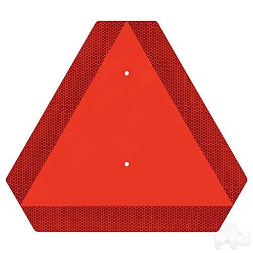 (Fat Cat Golf Slow Moving Vehicle Emblem, Orange Reflective Triangle)
