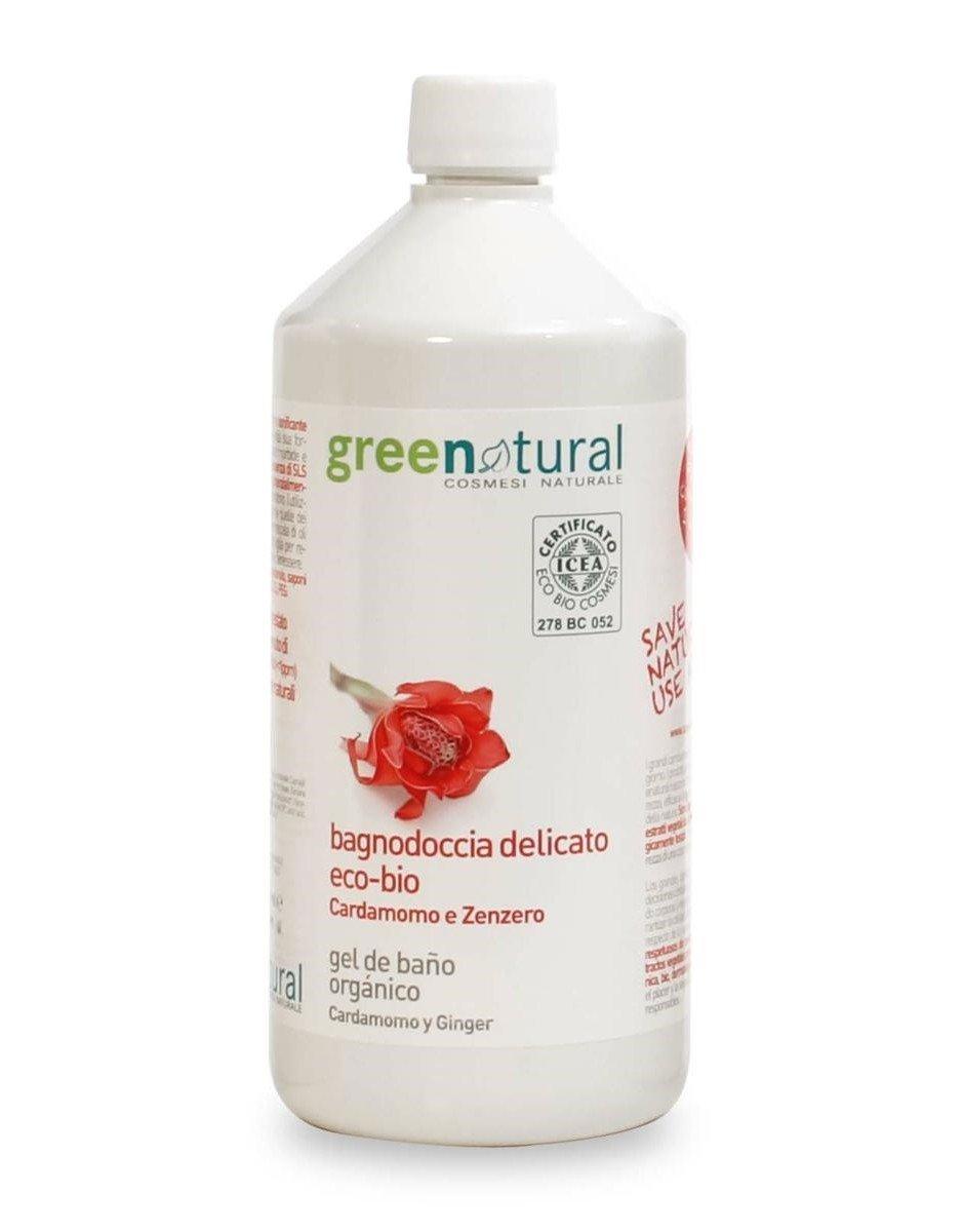 BAGNODOCCIA DELICATO ECO-BIO AL CARDAMOMO E ZENZERO, 1 lt. Green Natural