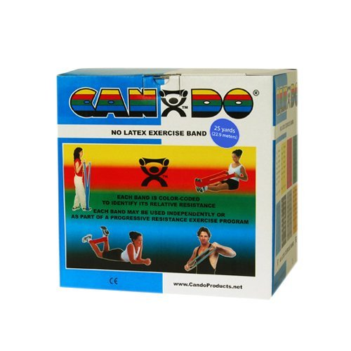 CanDo Latex-Free Exercise Band 5 Piece Set, 25 Yard by Cando