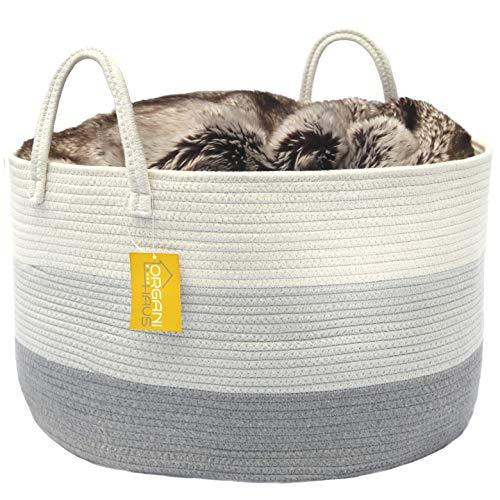 - OrganiHaus XXL Cotton Rope Basket | Wide 20