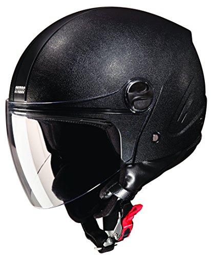 Studds Track Open Face Helmet (Plain Black, L)