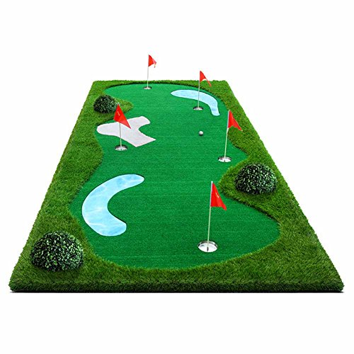All-In-One Mutil Function Golf Practice Mat----Chipper/Irons/Driver/Putter Practice Mat,4.92FT X 11.48FT by PGM (Image #1)