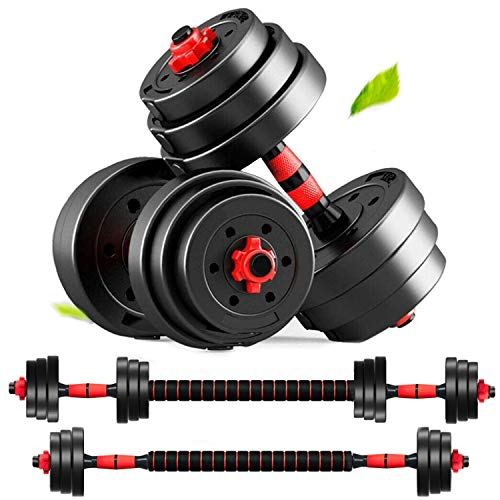 MontSprit Fathers Day for Dad Adjustable Weights Dumbbells Set of 2 Barbell Weights for Exercises, Home Gym…