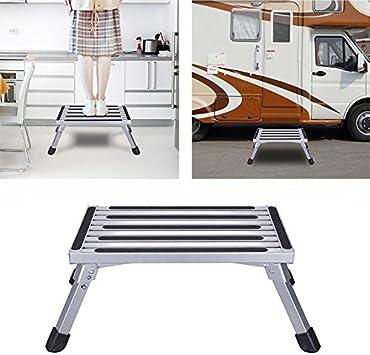 Plataforma de trabajo de aluminio 47 x 30 x 23 cm, carga máxima 150 kg yeso paso UP taburete de banco de trabajo, portátil plegable escalera con antideslizante Mat: Amazon.es: Bricolaje y herramientas
