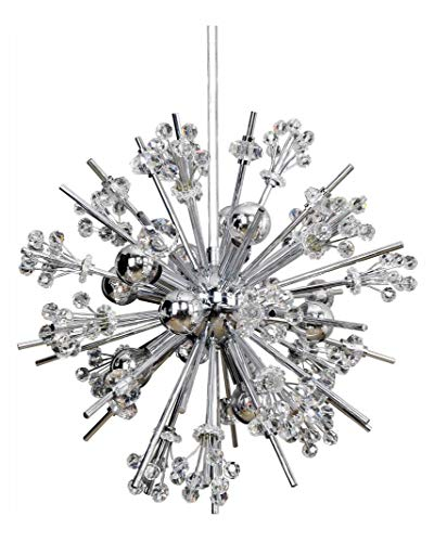 Constellation 10 Light Round Pendant Chrome (Chandelier Chrome Lincoln)