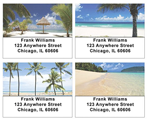 Tropical Beaches Address Labels ()