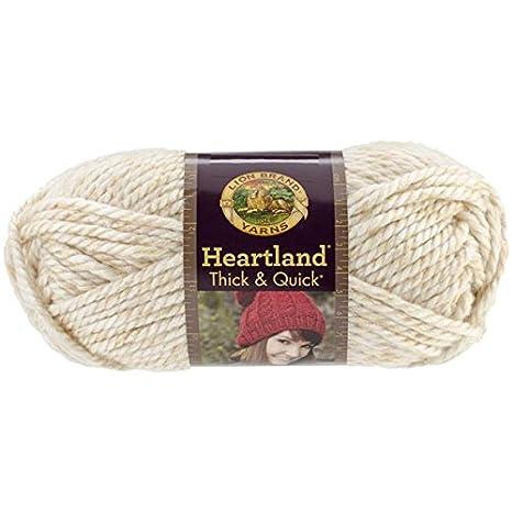 Lion Brand Yarn 137-153 Heartland Thick & Quick Yarn, Black Canyon Lion Brand Yarn Company