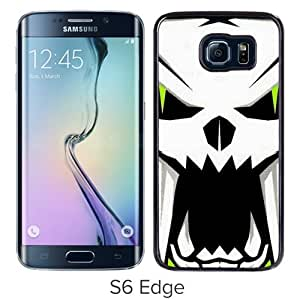 High Quality Samsung Galaxy S6 Edge Skin Case ,arctic cat skull Black Samsung Galaxy S6 Edge Screen Cover Case Popular And Unique Custom Designed Phone Case