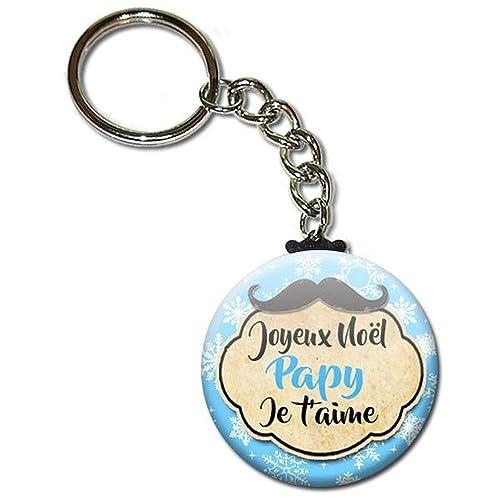 Joyeux Noël Papy Je T Aime Porte Clés Chaînette 38 Cm Idée Cadeau Grand Père Papi Pépé Parent