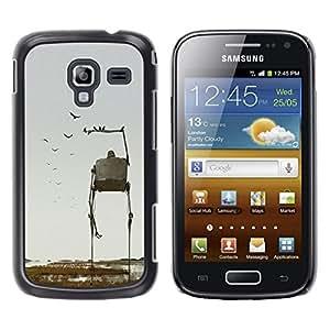 Caucho caso de Shell duro de la cubierta de accesorios de protección BY RAYDREAMMM - Samsung Galaxy Ace 2 I8160 Ace II X S7560M - Art Nature Birds Sci-Fi Fiction