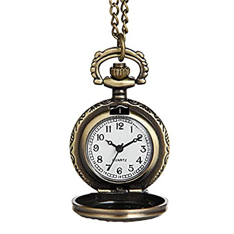 Hiwatch Women's Spider-Web Carving Pattern Hollow Out Antique Delicate Pocket Watch (Vintage Style Pocket Watch)