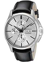 G-Timeless Analog Display Swiss Automatic Black Men's Watch(Model:YA126265)
