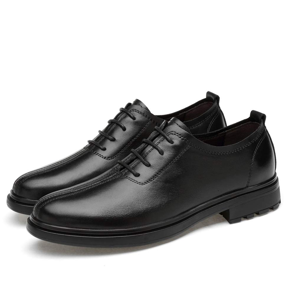 Keliour Mens Cap Toe Oxford Leder Schnürschuhe Mode Oxford Oxford Oxford Bequeme weiche Herren Schnürschuhe (Farbe   Schwarz, Größe   44 EU)  827ace