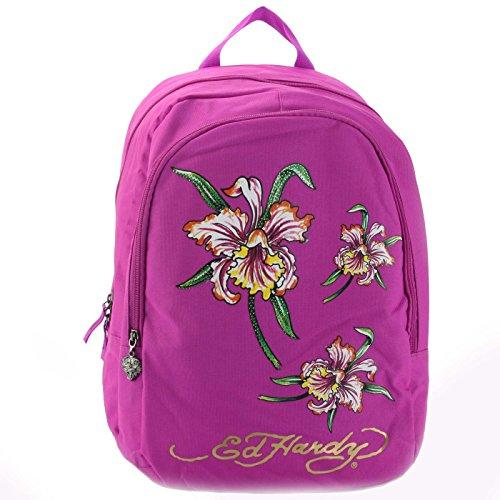 Ed Hardy Bags Purses - Ed Hardy Josh Iris Backpack -Violet Purple-One Size