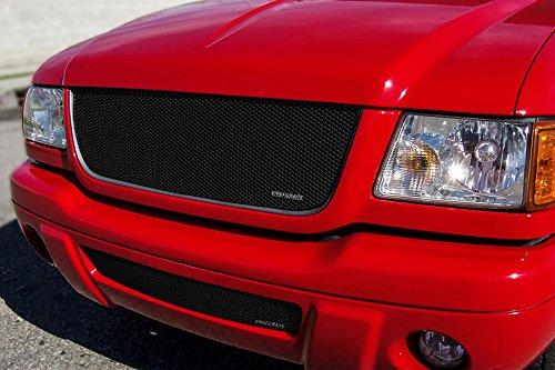 GrillCraft FOR1007B MX Series Black Upper 1pc Mesh Grill Grille Insert for Ford Ranger (2003 Ford Ranger Grille)