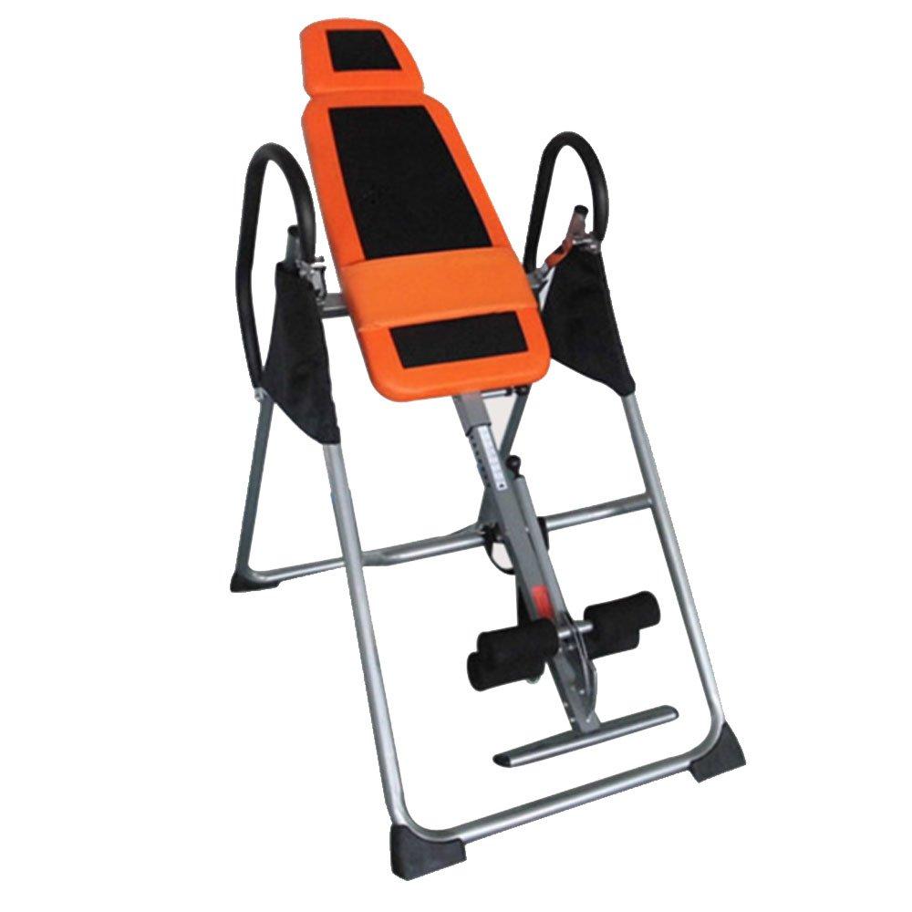 Lovinland Inversion Table Routine Fitness Equipment Steel Inversion Machine 297.62 lbs Black & Orange
