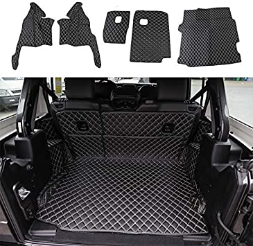 3D Leather Floor Mats Carpets  All-Weather Waterproof For Jeep Wrangler JL 2018