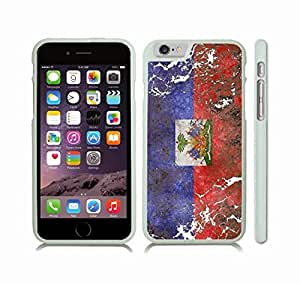 iStar Cases? iPhone 6 Case with Haiti Flag Distressed Grunge Look , Snap-on Cover, Hard Carrying Case (White)
