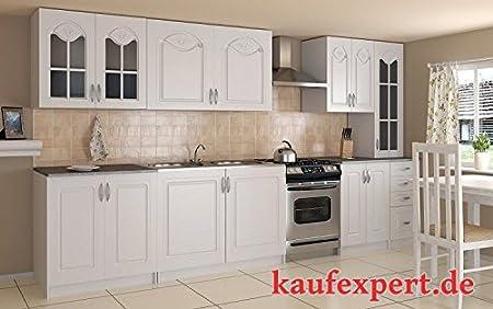 Bloque de cocina de 300 cm incluido de encimera de cocina de montaje de bloque de cocina de armarios de cocina de estilo rústico de estilo retro de tablero DM: Amazon.es: Hogar