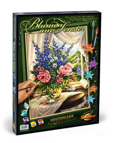 Schipper 609130601 Flowers by The Window Paint by Numbers Board