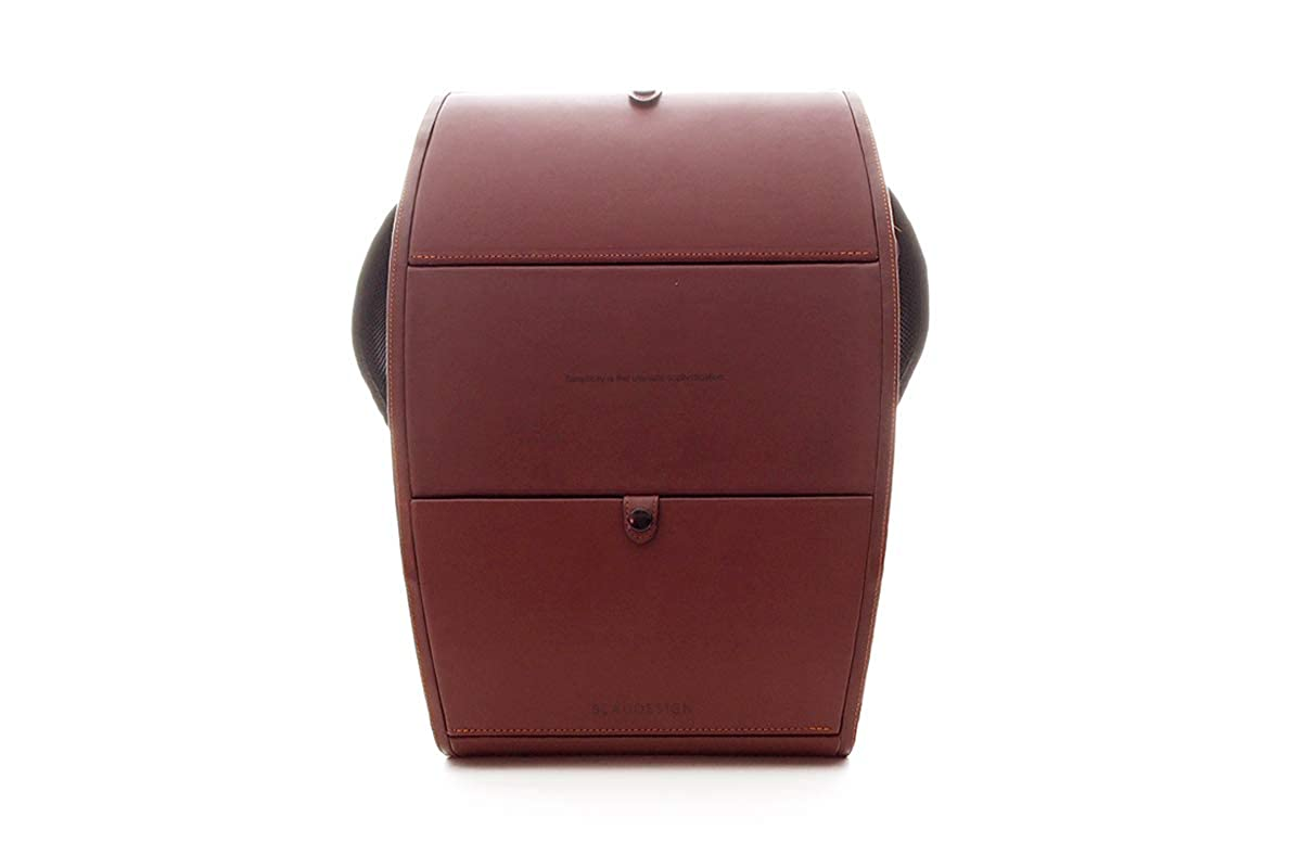 【ブラウデザイン】BLAUDESIGN Backpack ブラウン ハードシェル バックパック イタリアンレザー 革張り 大人ランドセル リュックサック 通勤リュック ビジネスリュック B07L2TK6QM