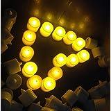 Samyo Set of 24 Battery Flameless & Smokeless LED Tealight Candles - Warm Candlelight