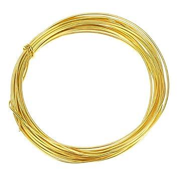 vergoldet Kupfer Draht für Schmuckherstellung 1 mm – 4 m: Amazon.de ...