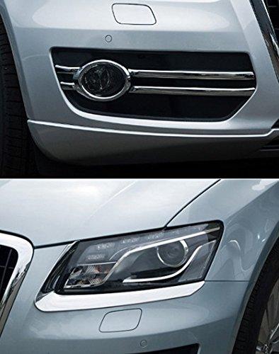 Accesorios para Audi Q5 cromo para faros delanteros + antiniebla Tuning Tapacubos: Amazon.es: Coche y moto