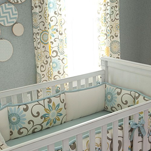 Carousel Designs Spa Pom Pon Play Crib Bumper by Carousel Designs