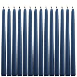 14 Cobalt Blue Taper Candles 12 Inch Tall 3/4 Inch Thick Burn 10 Hours (Color Is Core and Overdip )