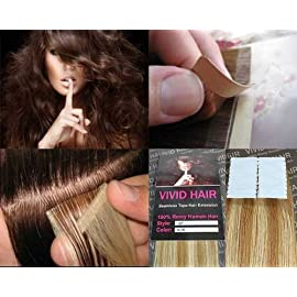 20 Pcs X 18″ inches Remy Seamless Tape In Skin weft Human Hair Extensions Color 7G/9G Lightest Brown Mix Blonde