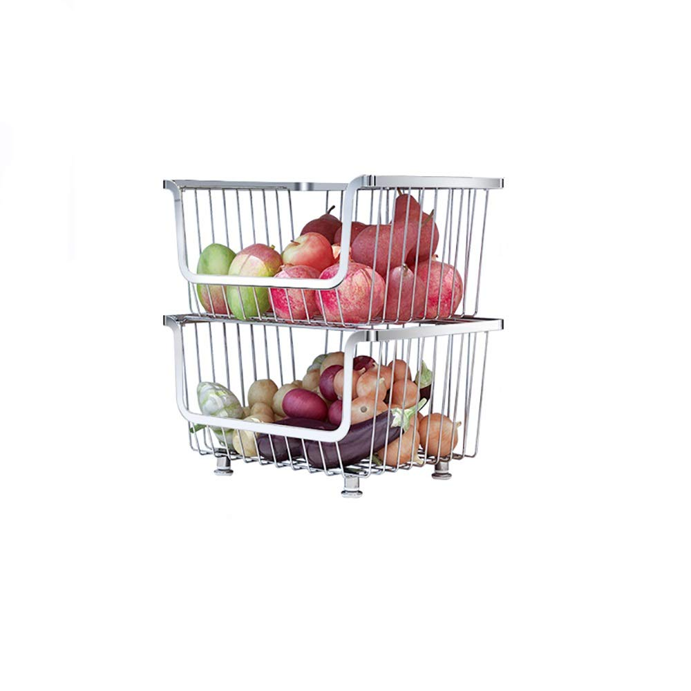 Detachable rolling metal making storage rack/kitchen sideboard assembly box pulley, with armrests, convenient, large space frame. (Size : Layer 2)