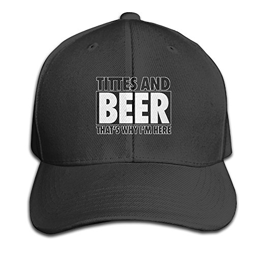 Titties Beer Thatâ€s Why Iâ€m Here Adjustable Classic Baseball Cap