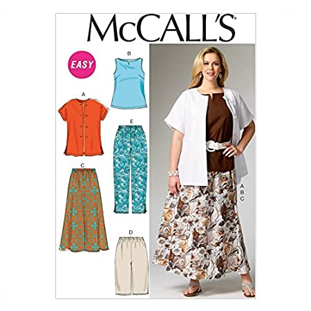 McCalls Ladies Plus Size Easy Sewing Pattern 6970 Shirt, Top, Skirt ...