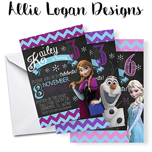 Frozen Inspired Custom Invitation Pick Your Look