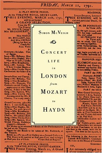 Concert Life in London from Mozart to Haydn by Brand: Cambridge University Press