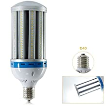 Derlights 100W E40 Led Corn Light Bulb, 550-600 Watt Replacement, Day White 6000K, 288pcs Bridgelux SMD5730 Chips,360 degree lighting, Perfect for Warehouse Outdoor and Street Lighting, 85-265V