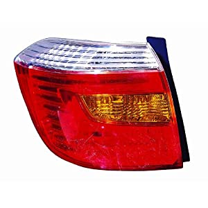 Depo 312-1988L-US Toyota Highlander Driver Side Replacement Taillight Unit without Bulb