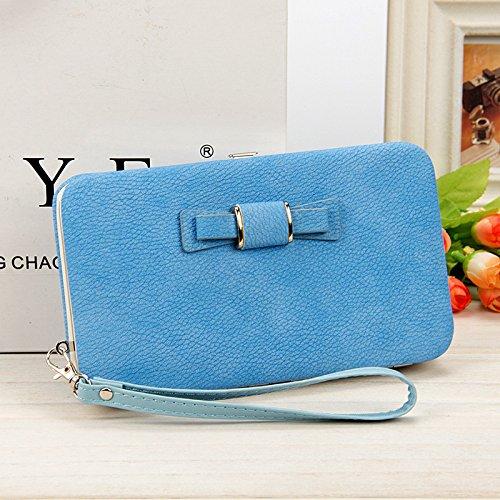 b31a29fc9e26 Women Bowknot Wallet Long Purse Phone Card Holder Clutch Large Capacity  Pocket