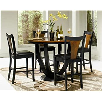 Boyer Two Tone Counter Height 5 Piece Dining Set By Coaster