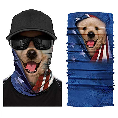 [NEW STYLE]3D Animal Neck Gaiter Warmer Windproof Face Mask Scarf, Microfiber Multifunctional Headwear for Motorcycle Riding - Neck Animal