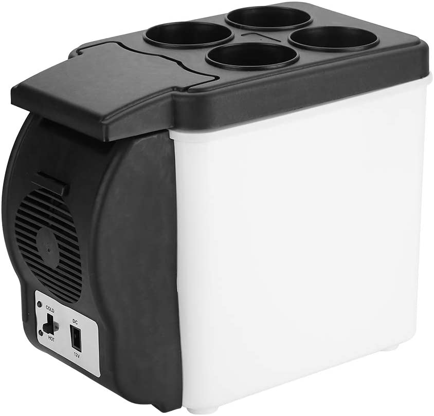 Portable Freezer, 12V 6L Portable Car Refrigerator, Portable Electric Cooler for Car, Mini Portable Fridge for Beverage, Beer, Wine, Seafood, Fruits, Boat, RV, Camping, Driving, Travel, Fishing