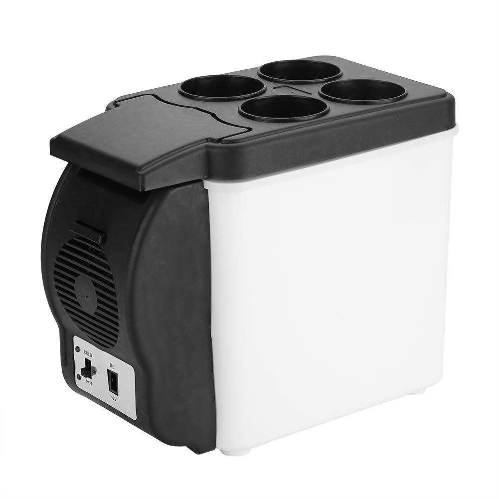 12V 6L Portable Car Refrigerator Mini Multi-Functional Food Drinks Warmer Cooler Fridge for Home Kitchen