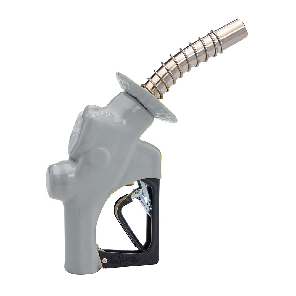 Husky 173310N-09 New VIII Heavy Duty Diesel Nozzle with Three Notch Hold Open Clip, Full Grip Guard and Black Hand Guard