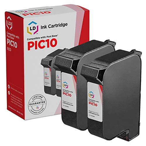 (LD Remanufactured Ink Cartridge Replacements for FP PostBase PIC10 (Fluorescent Red,)
