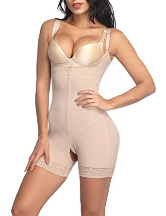 fa248e4140521 Seamless Open Bust Bodysuit Shaping Shapewear Butt Lifter Body Shaper Waist  Shaper Beige S