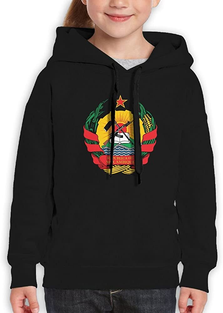 DTMN7 Emblem Of Mozambique Awesome Printed Long Sleeve Top For Kids Unisex Spring Autumn Winter