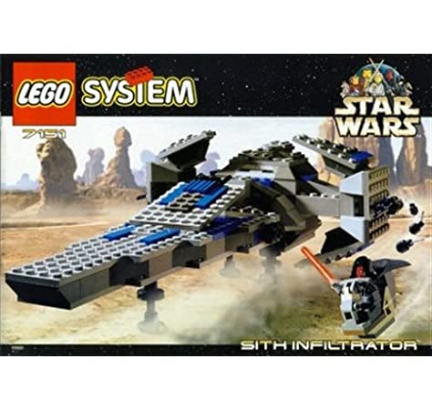 Amazon Com Lego Star Wars Episode 1 Darth Maul Sith Infiltrator Spaceship Set 7151 1999 Toys Games